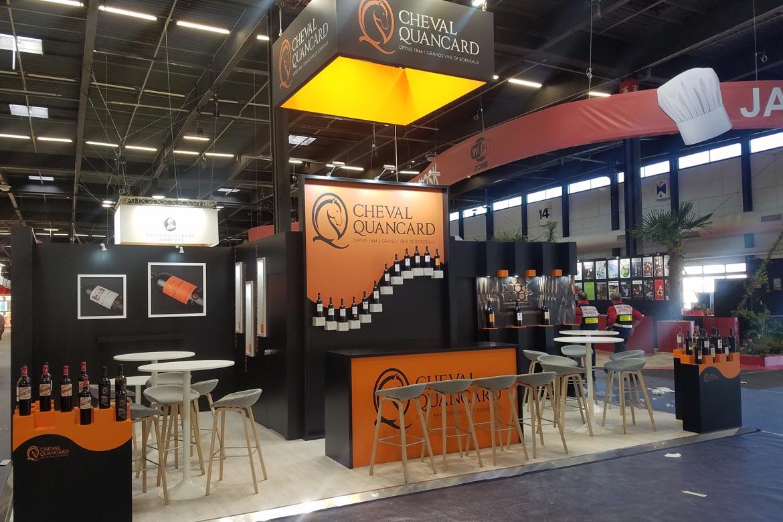 Cheval Quancard - réalisation de stand Sillage Design - Vinexpo 2019 - Bordeaux