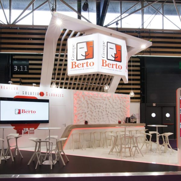 Groupe Berto - réalisation de stand Sillage Design - SIRHA 2019 LYON