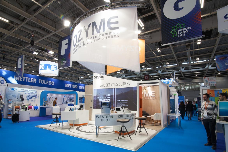 Ozyme - réalisations de stands Sillage Design - Paris
